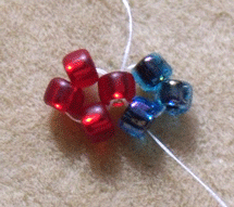 Learn how to cubic right-angle weave in this expert beading blog, step 2 includes adding three more beads and passing them through the bead you exited at the start of this step.