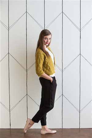 Amy Christoffers Lace Dolman Jacket knit.purl Spring/Summer 2015