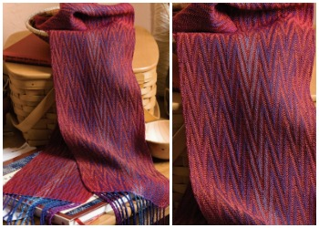 Weaving a scarf on an 8-shaft loom gives you tons of design possibilities, like the ones included in this eBook of 8-shaft weaving loom patterns.