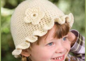 Goldilock's Hat by Marty Miller is an easy single-crochet hat that comes with step-by-step in our free eBook.