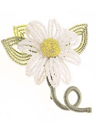 The Marguerite Daisy Pin is a bead craft project found in our free Bead Craft Patterns eBook.