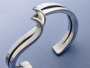twisted forged wire cuff bracelet