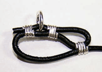 Making Leather and Wire Bracelet Step 6