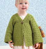 Learn how to use different crochet stitches to save yarn, such as the Sidney Cardigan by Robyn Chachula.