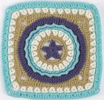 Learn how to do this circle star crochet afghan pattern.