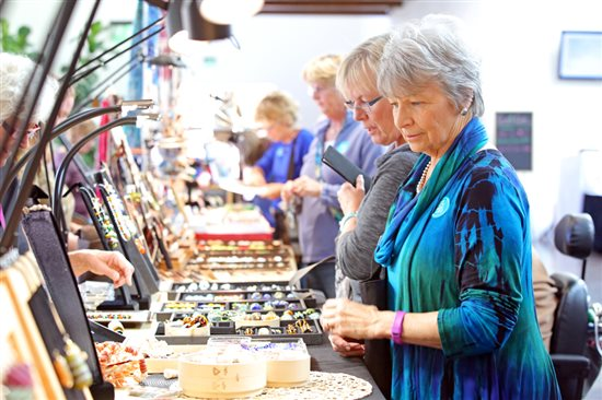 jewelry supply shoppers at Bead Fest Spring