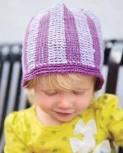 Tunisian Crochet in the Round Hat