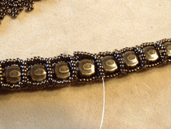 Learn how to make a seed bead bracelet with this step-by-step tutorial: Step 5.