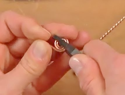 make flat wire coils in pliers