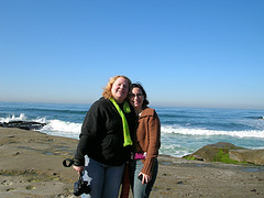 Shannon & me at the beach
