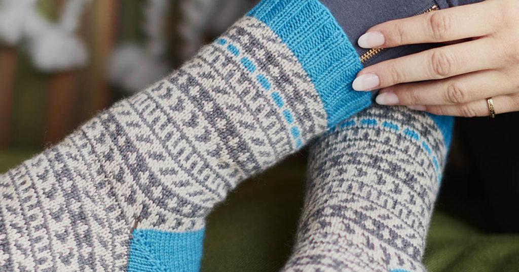 <em>knitscene</em> Summer 2018: Accented Socks