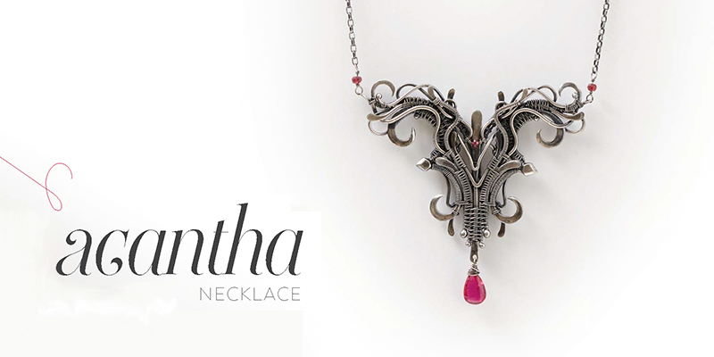 <em>Woven in Wire</em> Jewelry: Acantha Necklace