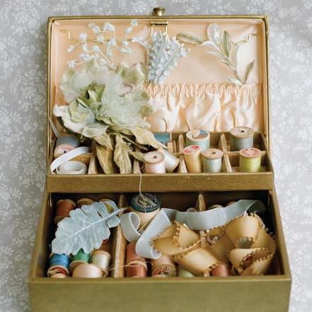 sewing box treasures from Adornments by Myra Callan