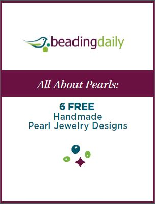 Learn how to make handmade pearl jewelry in this free beading eBook.