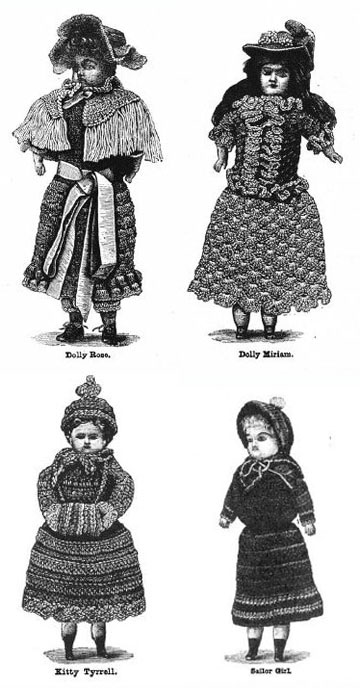 Clockwise from top left: [01] Dolly Rose, Dolly Miriam, Kitty Tyrrell, and Sailor Girl