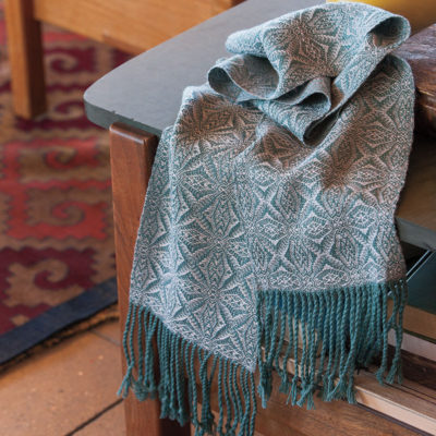 Jan Josifek's wonderful wintery American Snowflake Scarf is the perfect project to get started on a cold, December weekend.