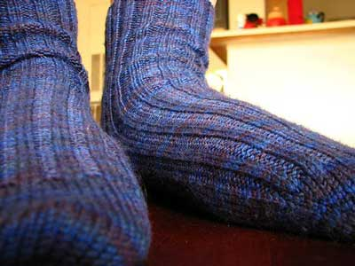 Amy's first socks, On Your Toes by Ann Budd