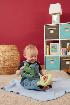 Silly Monster Rattles knitting and crochet patterns from Love of Knitting Toys by Brenda K. B. Anderson