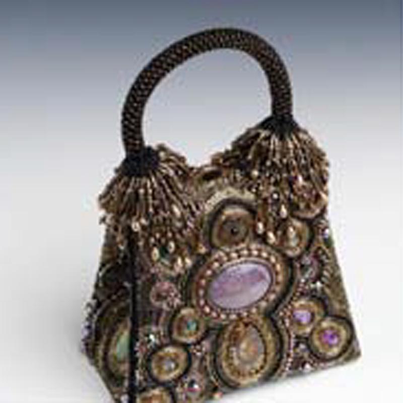 Sherry Serafini bead embroidered purse