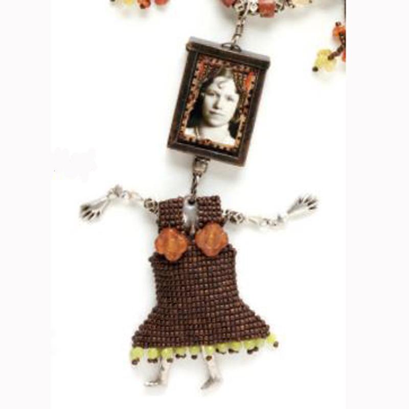 Beadwork anniversary necklace