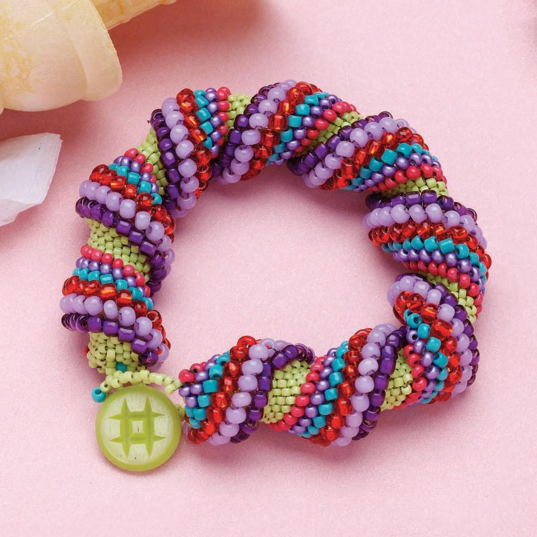Confetti Spiral Bracelet by Marilyn T. Aronson