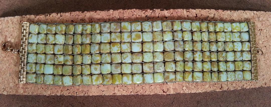 Julianna C. Avelar shows how to use the Jewel Loom using two-hole beads.