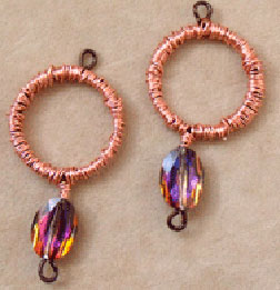 The Wire Wrapped Crystal Earrings by Jennifer VanBenschoten is a fun beaded earring pattern that can be found in our free How to Make Earrings eBook.