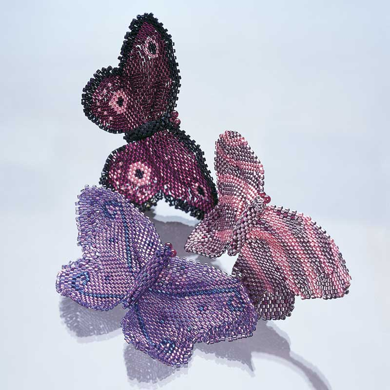 Delicate Freeform Butterflies by Sylvia Becker