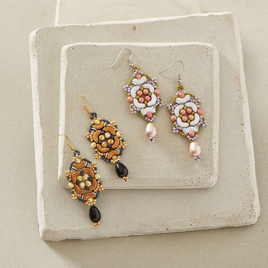 Debra Hodoyer's English Garden Earrings