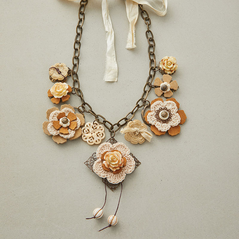 Vintage Bouquet Necklace by Terry Ricioli