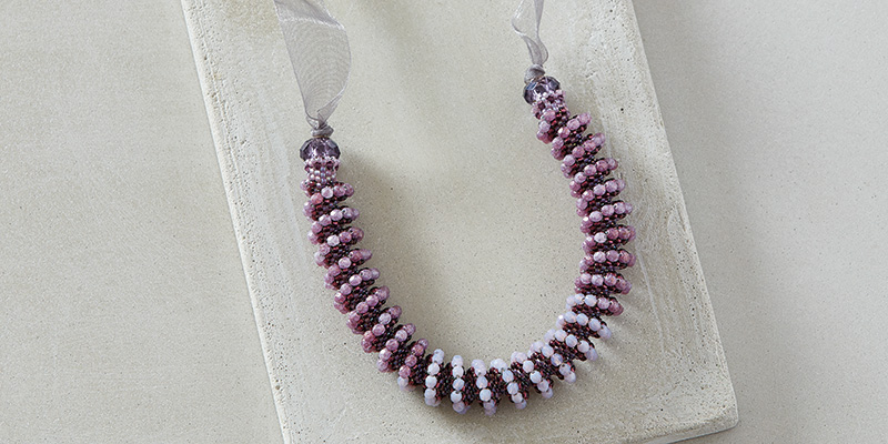 Ombre Cellini Necklace by Marianna Zukowsky