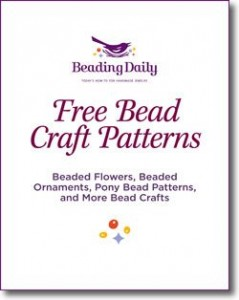 The Free Bead Craft Patterns eBook comes with beaded flowers, beaded ornaments, pony bead patterns, and more bead crafts.