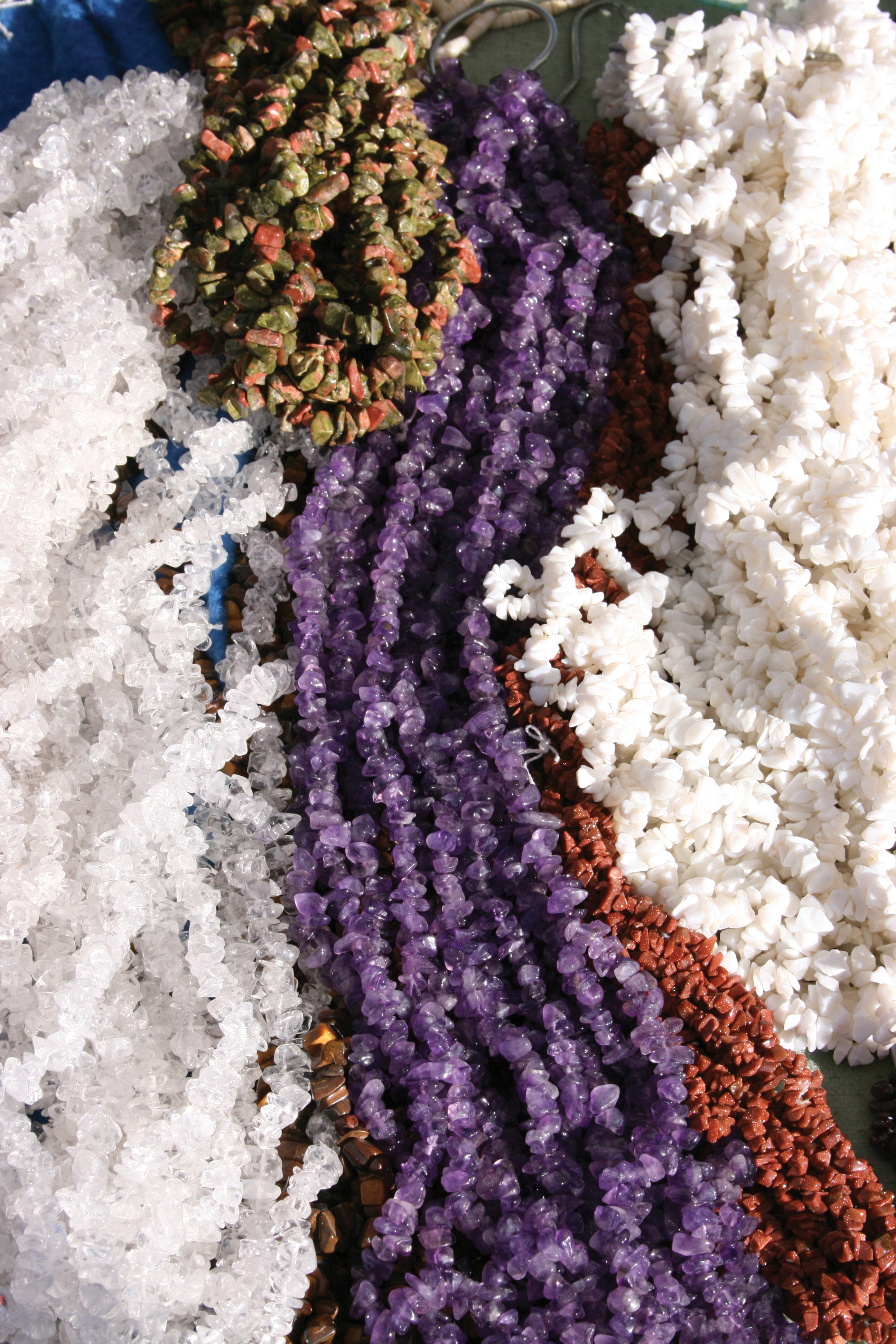 Truckloads of beads find their way to Tucson during the shows, with gemstones from around the globe. Photo Courtesy of Visit Tucson.