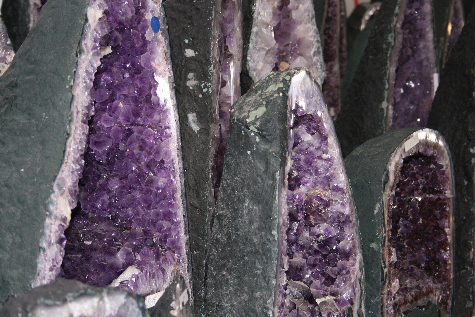 An amethyst tower is one of the quintessential showpieces you'll see at the shows. Photo Courtesy of Visit Tucson.