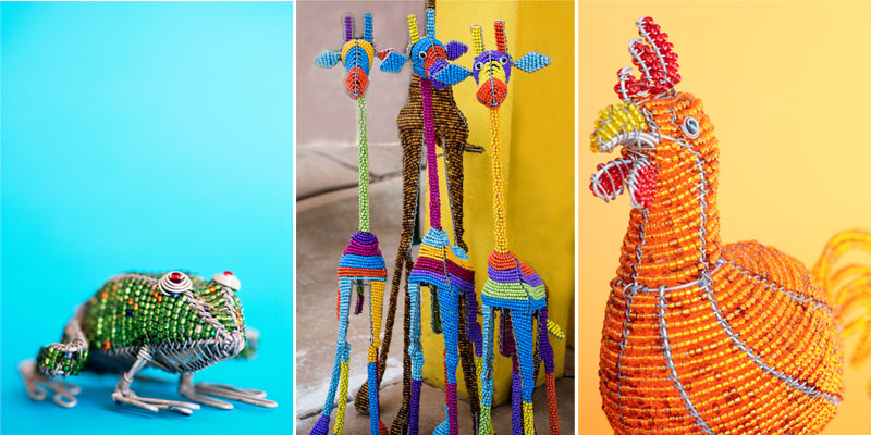 How To Make Beautiful Beaded Flowers with Wire. Beaded animals: L to R: Neil Overy/Dendenal81/Neil Overy; all Getty Images
