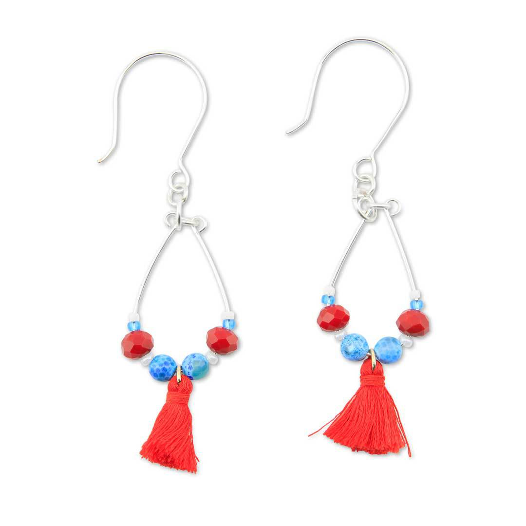 Pear Drop Dangle Earrings from Beadalon and Jesse James Beads