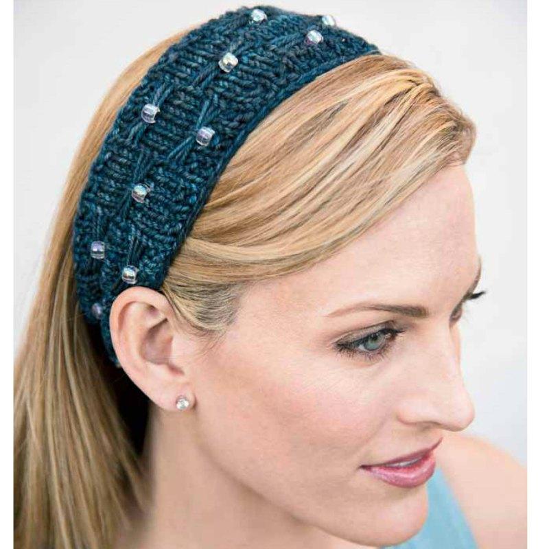 Free Knitting Pattern: Beads and Bows Headband