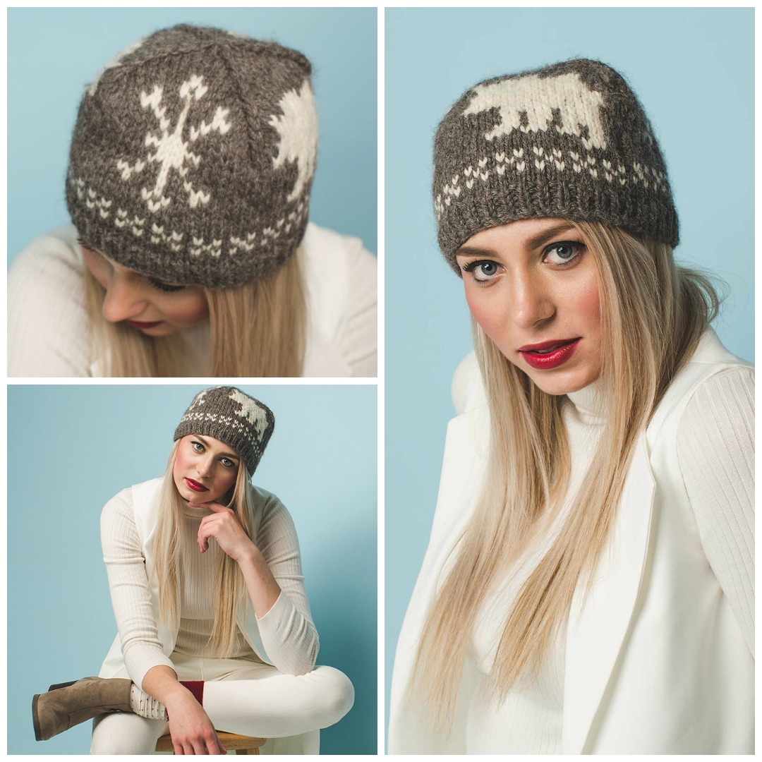 07f20c84770e0 The Bearly There Cap is a close-fitting knitted hat with stranded colorwork  bears and