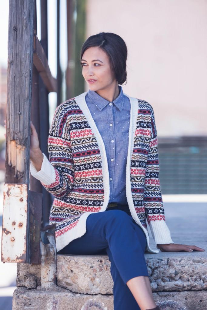 Amanda Bell Whitfield Cardigan knit sweater pattern