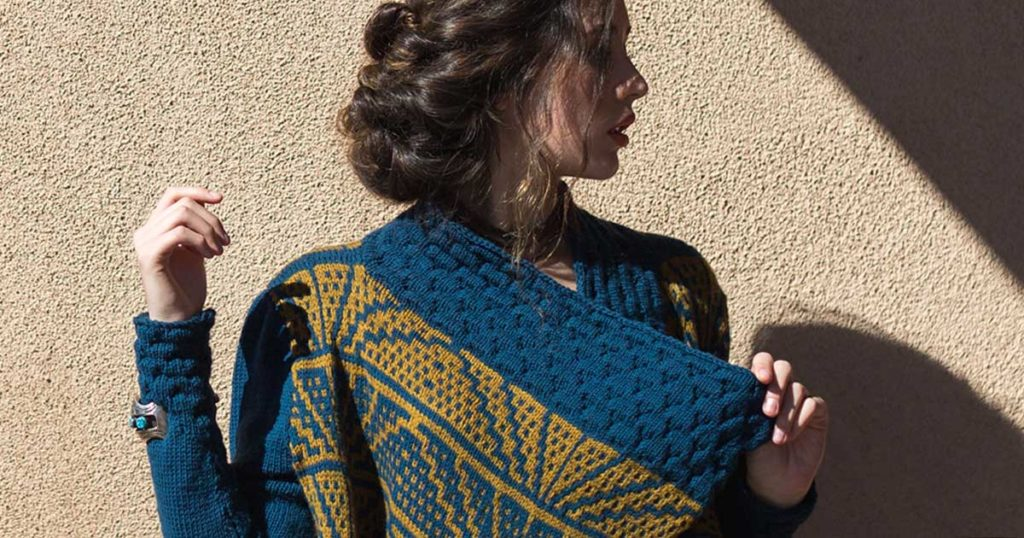 <em>Interweave Knits</em> Summer 2018: Bent&#8217;s Fort Cardigan