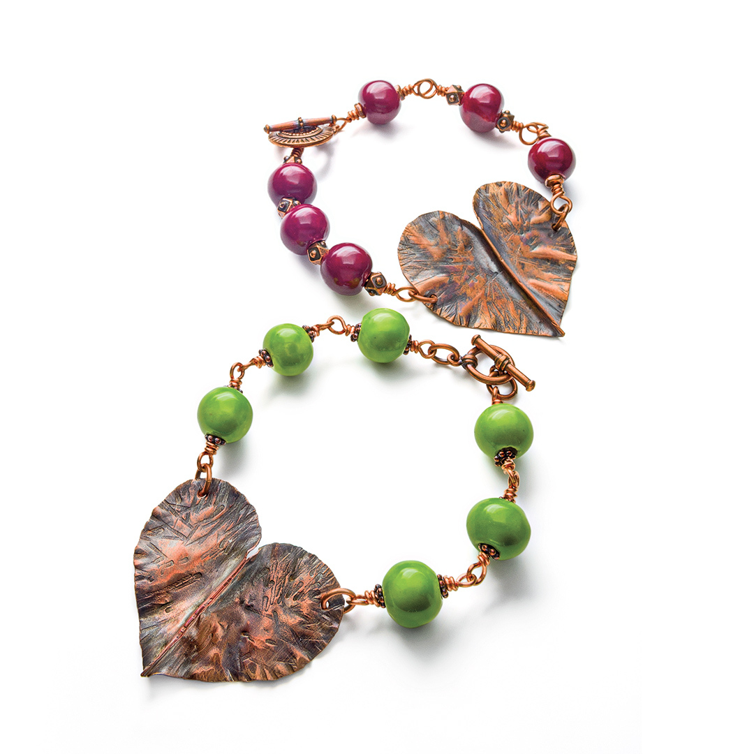 Abbi Berta's Battered Heart Bracelet from Step by Step Wire Aug/Sept 2012