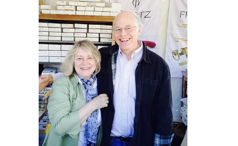 Bill and Marian Fretz at the Pueblo Tucson gem shows