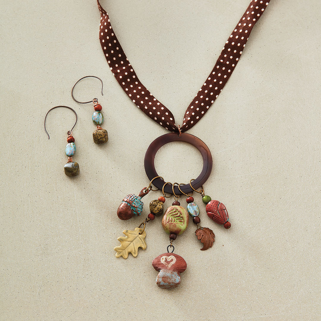 Woodland Patina Necklace by Debbie Blair inspired by nature