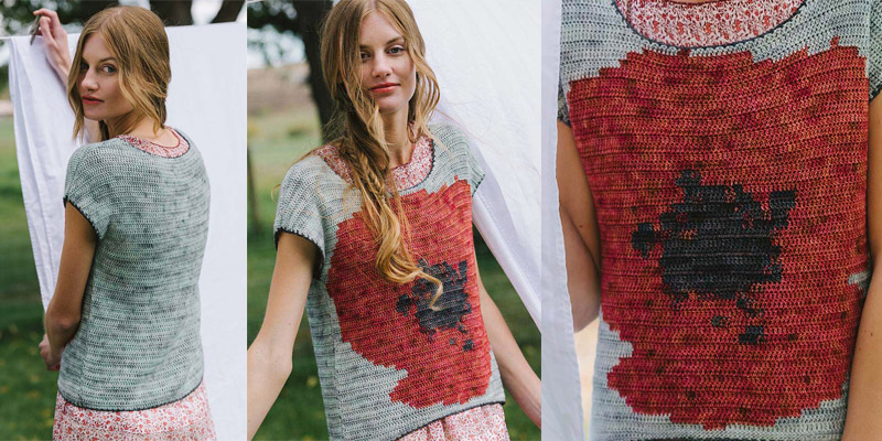 POW: Intarsia with the Blooming Tee