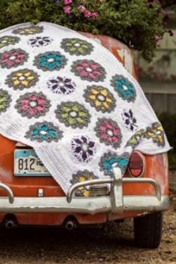 Bright Blooms Afghan Crochet Pattern