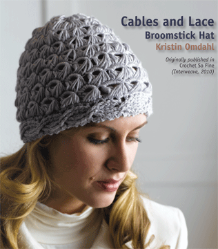 Cables and Lace Broomstick Hat 670e4876c0c