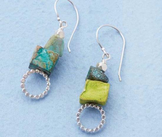 Bubble Wand Head Pin earrings by Denise Peck: easy metal jewelry making