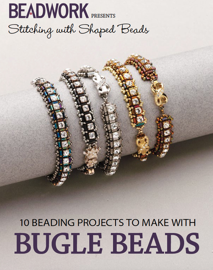 beading patterns, bugle beads, Stitching with Shaped Beads: 10 Beading Projects to Make with Bugle Beads