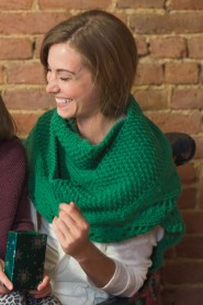 Bulky waves scarf is great for knitting gifts