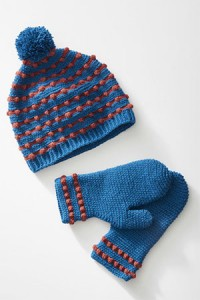 Busy Bobbly Beanie and Mitts
